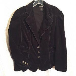 Black Soft Cord Blazer
